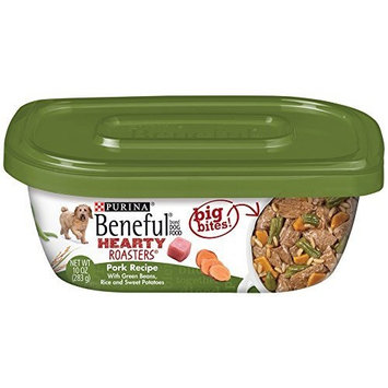 Beneful Dry Dog Food, Hearty Roaster, Savory Pork Recipe, 10-Ounce Tub, Pack of 8