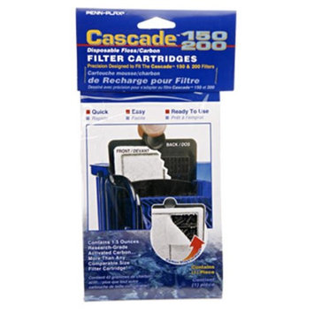 Cascade 150 /200 Power Filter Disposable Floss/Carbon Filter Cartridge
