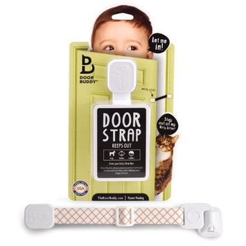 Door Buddy Child Proof Door Lock with Adjustable Strap. Baby Proof Rooms Without Having to Deal With a Baby Gate. Installs in Seconds and is Simple & Convenient to Use. (Caramel)