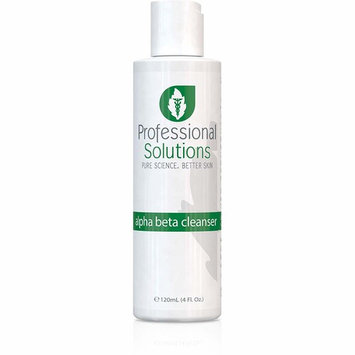 Professional Solutions Alpha Beta Cleanser | Powerful, Oil-Free Anti-Aging Cleanser | Removes Excess Oil & Dirt | Glycolic Acid Removes Dead Cells | Lactic Acid for Hydration & Gentle Exfoliation