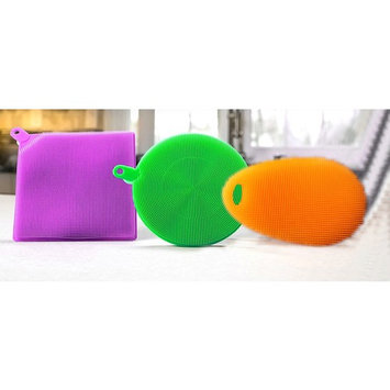Cleaning Dishwashing Silicon Mildew-Free Sponges Food Grade & BPA Free, 3 Pack