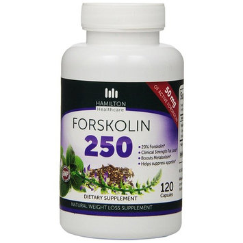 Hamilton Healthcare Forskolin 250mg Fat Burner Coleus, Appetite Suppressant and Weight Loss Supplement, 120 Count