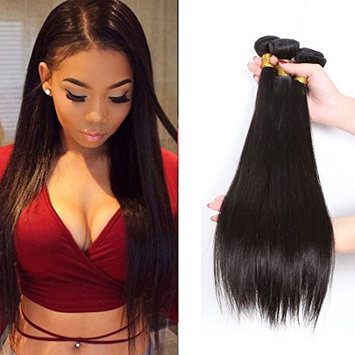 CCOLLEGE Hair Malaysian Straight wave 3 Bundles 8A Grade 100% Unprocessed Virgin Human Hair 100g/Bundle Remy Hair No Shedding Natural Color