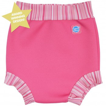 Splash About Happy Nappy Swim Diaper - Pink Candy Stripe