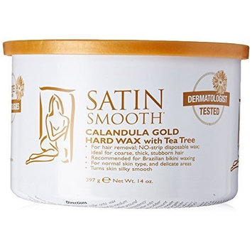 Satin Smooth Satin Smooth Calendula Gold Hard Wax with Tea Tree Oil, 14 Ounce