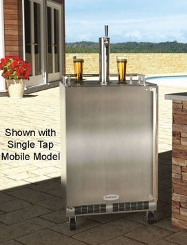 MARVEL Half-Barrel Stainless Steel Digital Built-In Kegerator MO24BTS2LS