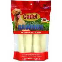 Ims Trading Corp Cadet Natural Rawhide Rolls Dog Treats, 2 Lb