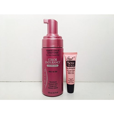 Joico Foaming Leave-in Conditioner (color lock (4.2 oz) - Free Starry Lip Plumping Gloss 10ml