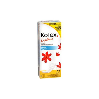 KOTEX EXTRA LT DAY REG UNS 18/Case 22 EACH