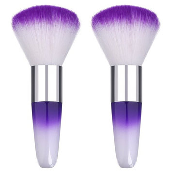 eBoot 2 Pieces Soft Nail Art Dust Remover Powder Brush Cleaner for Acrylic and Makeup Powder Blush Brushes