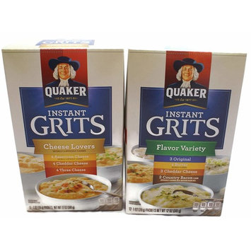 Variety Pack - Quaker Instant Grits (12 oz) - Cheese Lovers, Flavor Variety