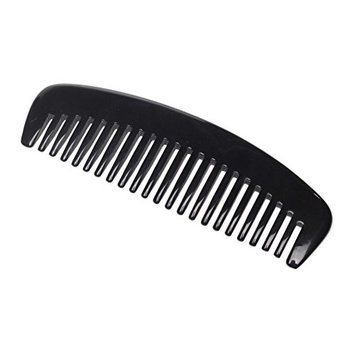 Nasofir Premium Quality 100% Handmade Anti Static Natural Black Ox Horn Comb.hair comb.Buffalo horn. Without Handle Wide tooth.Light and simple style