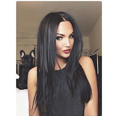 Yviann Synthetic Hair Wigs Long Straight Full Wig for Women Middle Part Heat Resistant Wigs