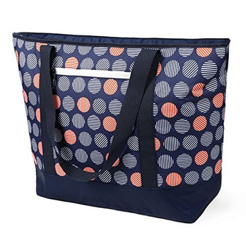California Innovations 12 Gallon insulated Mega Tote Dark Blue With Dots