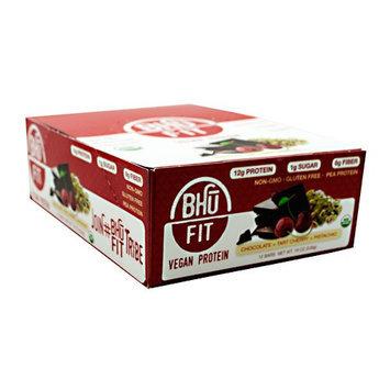 BHU Foods BHU Fit Vegan Protein, Chocolate Tart Cherry Pistachio, 12 bars- 19 oz