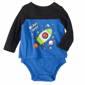 born Baby Boys' Long Sleeve 2-in-1 Bodysuit