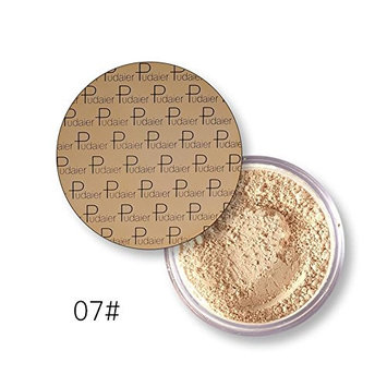 JaneDream Pro Makeup Face Loose Powder Long Lasting Whitening Bronzer Contour Nude Base Foundation Comestics 07# Flesh