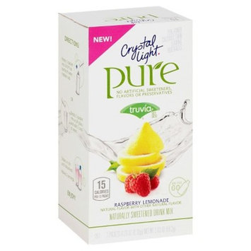Crystal Light Pure Raspberry Lemonade - 7pk/0.29oz Pouches