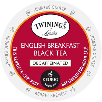 Twining's of London English Breakfast Decaf Tea, K-Cup Portion Pack for Keurig Brewers