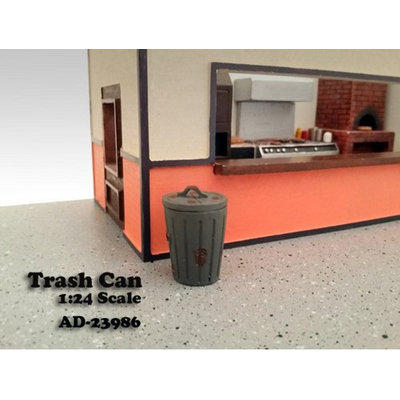 American Diorama 23986 Trash Can Accessory Set of 2 for 1-24 Scale Models