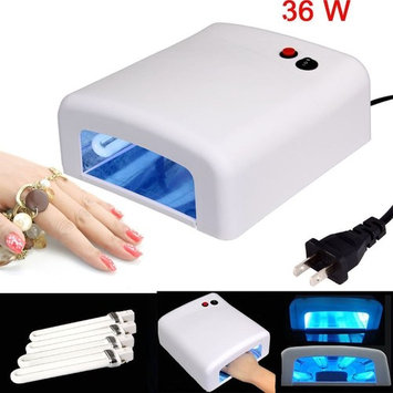 HeCloud 36W Nail Dryer Gel Curing UV Nail Lamp with Sliding Tray + 4 x 9W Bulbs Included …