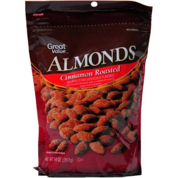 Great Value Cinnamon Roasted Almonds, 14 oz
