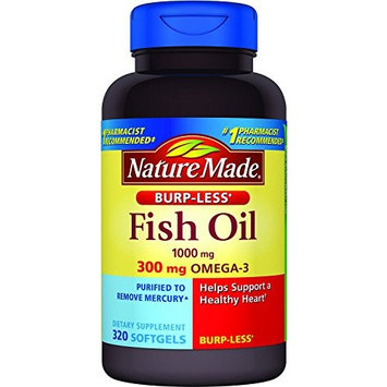 Nature Made Burpless Fish Oil 1000 mg with Omega-3 300 mg