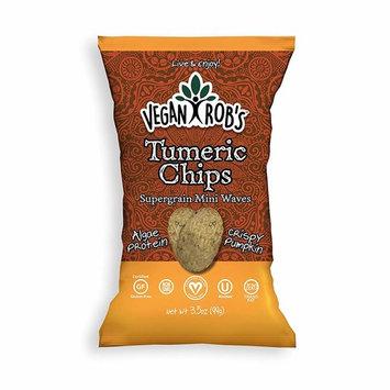 Vegan Rob's Gluten Free Rice Chips, Turmeric, 3.5 Ounce, 12 Count [Turmeric]