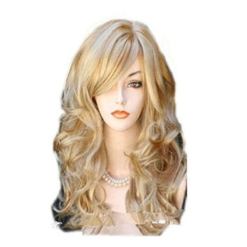 DAYISS Women's Long Curly Wig Body Wavy Stage Cosplay Party Heat Resistant Healthy Hair (G