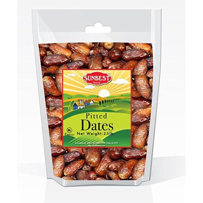 SUNBEST Dried Pitted Dates (2.5 LBS) in Resealable Bag