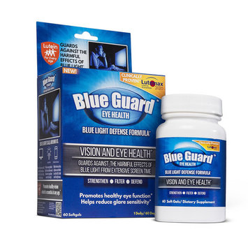 Blue Guard Blue Light Defense Supplements for Eye Health, 60 Count Softgels