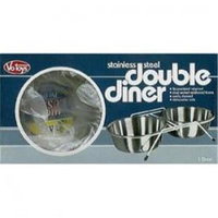 TopDawg Pet Supply Ss Double Diner 1qt - Box