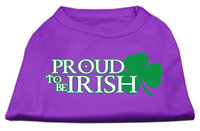 Mirage Pet Products 5164 SMPR Proud to be Irish Screen Print Shirt Purple Sm 10