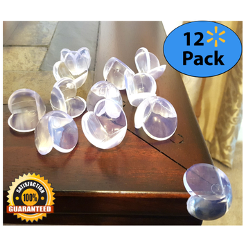 EliteBaby Clear Table Corner Guards, 12 Pack I Baby Proof Corners and Childproofing Toddlers, Baby Corner Protector Bumpers