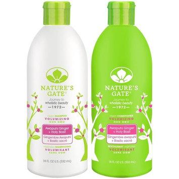 Nature's Gate Awapuhi Volumizing for Fine, Limp Hair, Duo Set Shampoo & Conditioner, 18 Oz Each Bottle