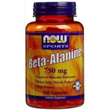 Now Foods, Beta-Alanine, 750 mg, 120 Capsules