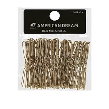 American Dream Wavy Hair Pins, Blonde 2.5-Inch/ 6.35 Cm - Pack Of 100