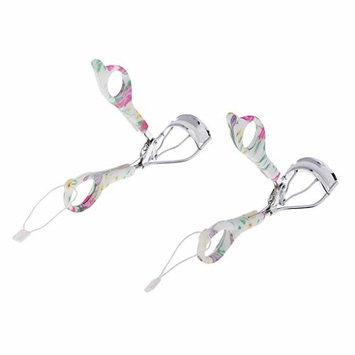 Homyl 2pcs Eyelash Curler Flowers Tweezer Curling Eyelash Clip Foundation Cosmetic