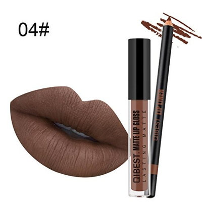 Crystal Lipstick DEESEE(TM) 1Set Beauty Bright Waterproof Waterproof Matte Liquid Lipstick Long Lasting Lip Gloss Lipstick Lip Liner Pen
