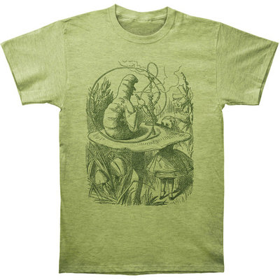 Alice In Wonderland Men's Hookah Caterpillar Slim Fit T-shirt Heather [clothing_size_type: clothing_size_type-regular]