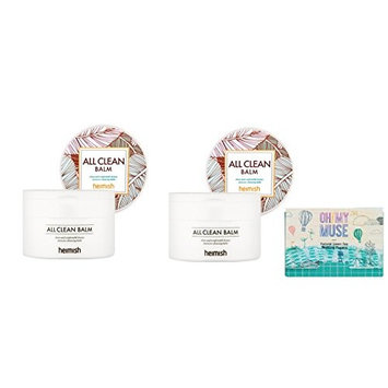 (Pack of 2) Heimish All Clean Balm, Korean Facial Cleansing with Oh my muse Blotting Paper: Beauty