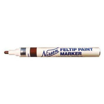 Nissen Paint Marker, Brown, 1/8 in. Tip Size Model: 00361