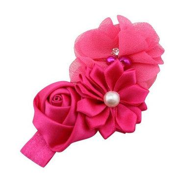 Bigban Fashion Baby Girl Flower Pearl Flower Hair Band Headband Hairband Hair Accessories