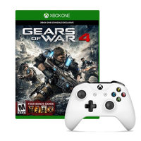 Microsoft Xbox One Controller in White with Gears of War 4