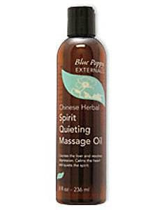 Spirit Quieting Massage Oil 8 oz by Blue Poppy