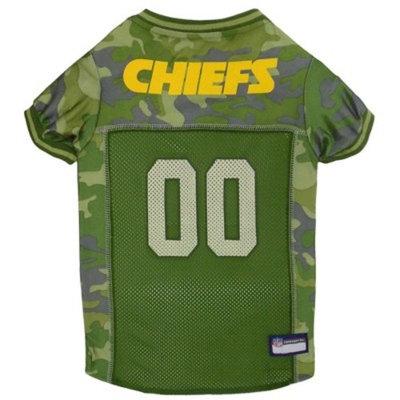 NFL Pets First Camo Pet Football Jersey - Kansas City Chiefs