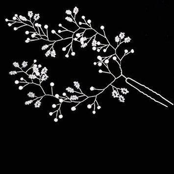 Missgrace Bridal Vintage Flower Hair Pins Wedding Rhinestone Woodland Hair Jewelry Women Hair Accessories Set of Two