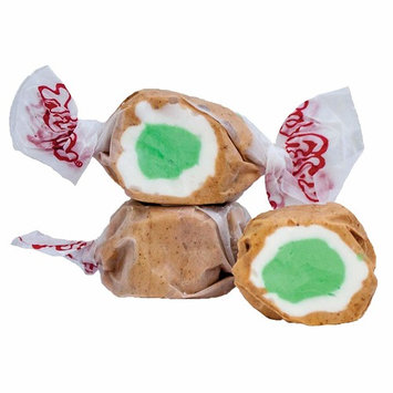5 LB. Apple Pie(Brown with Lime Green and White Center) Salt Water Taffy - Gourmet Taffy by Taffy Town