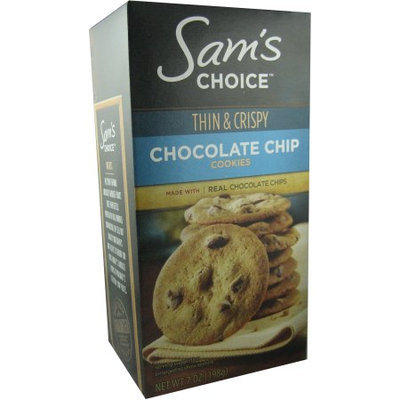 Wal-mart Stores, Inc. Sam's Choice Thin & Crispy Chocolate Chip Cookies, 7 oz