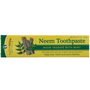 Organix South - TheraNeem Naturals Neem Toothpaste with Mint - 0.7 oz.